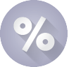 picture of a percent sign icon