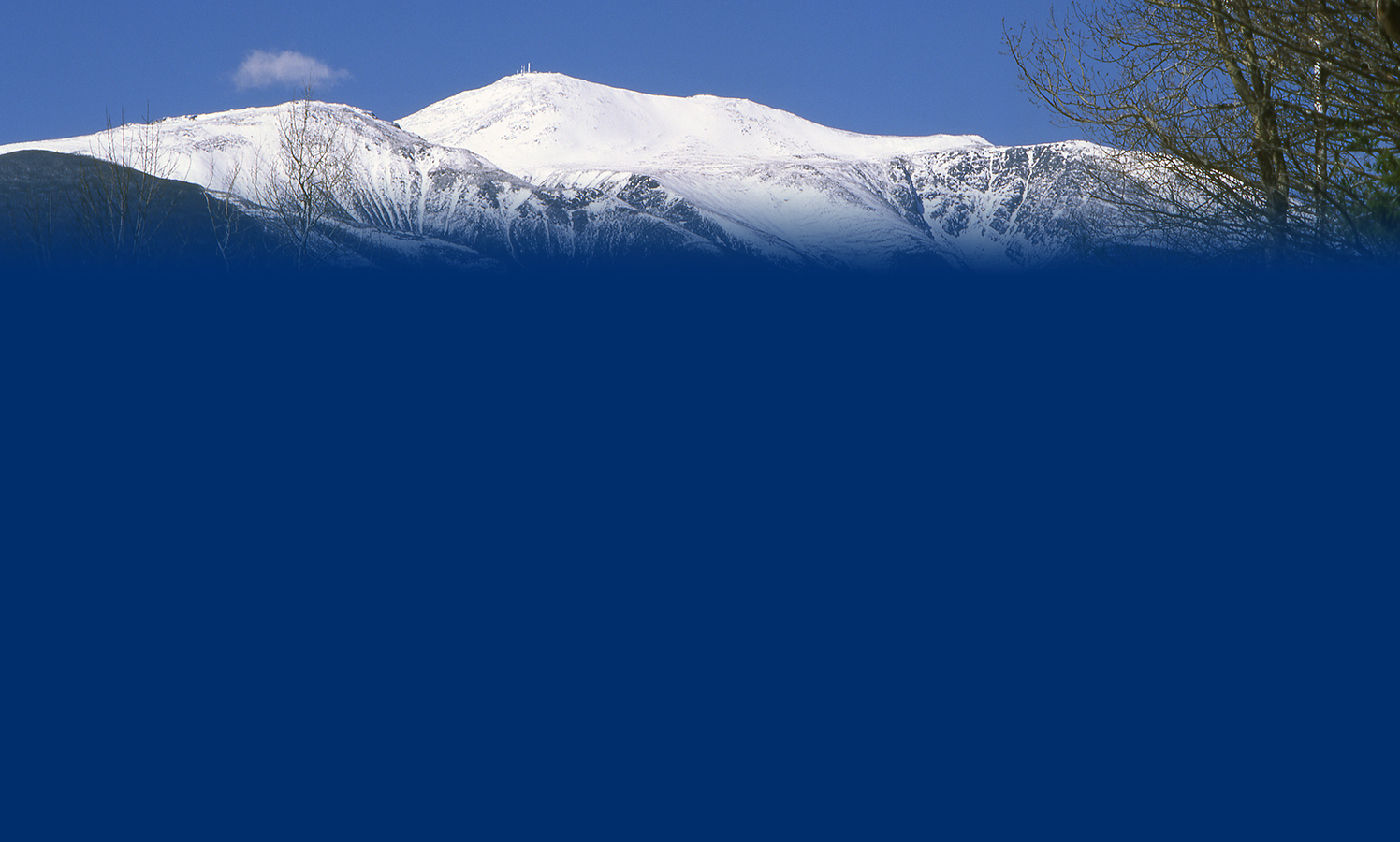 Secondary page header image of Mt. Washington