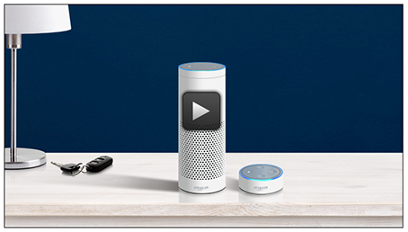 Image of Amazon Alexa device for Voice Bill Pay
